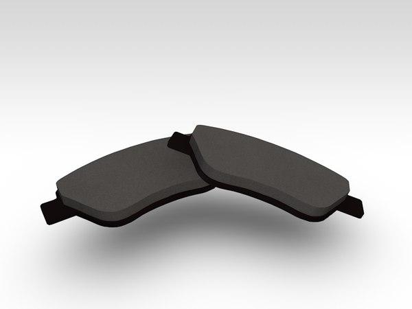 3d model brake pads