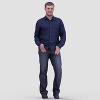 realistic human 3d model