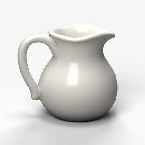 porcelain tea pot 3d model