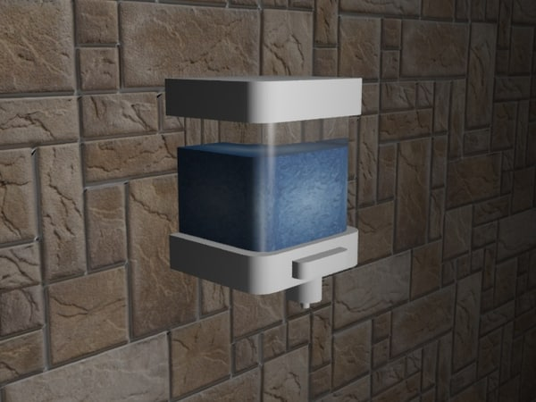 free liquid soap dispenser 3d model
