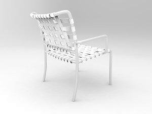 3d model gervasoni outdoor chair