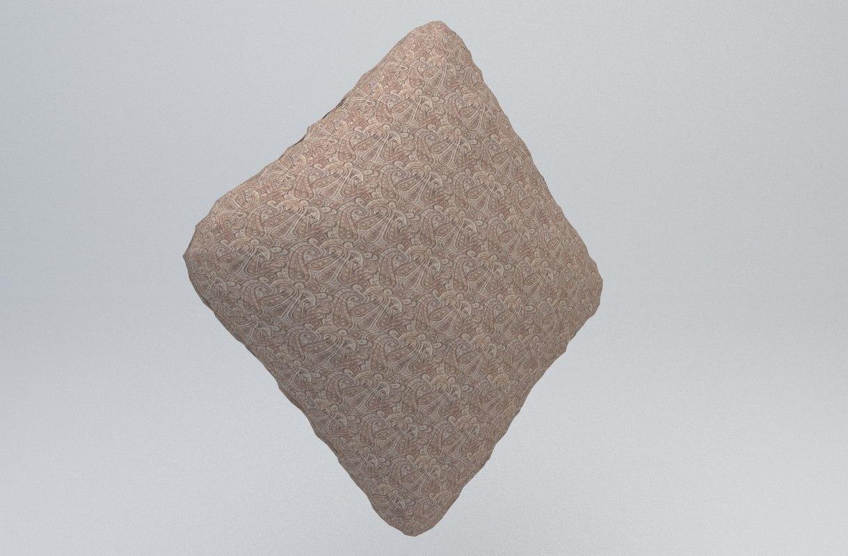 pillow yastik kaplama 3d 3ds