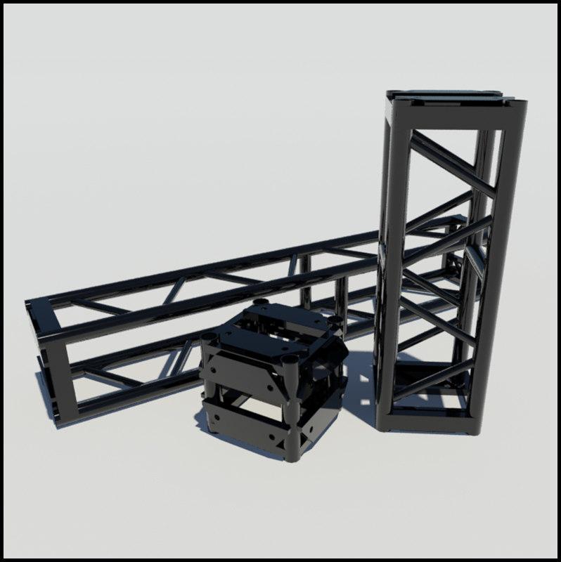 truss steel 3d model