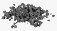 3d rocks pile model