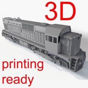 3d russian diesel train locomotive model