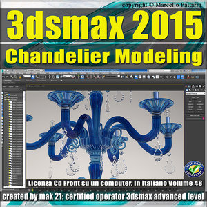 Video Corso 3ds max 2015 Chandelier Modeling vol. 48 CD front