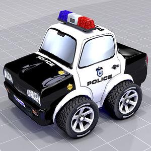 police car mesh 3d 3ds
