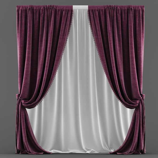 3d model of curtain classic