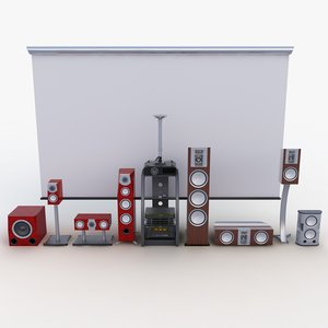 3d model of home theater