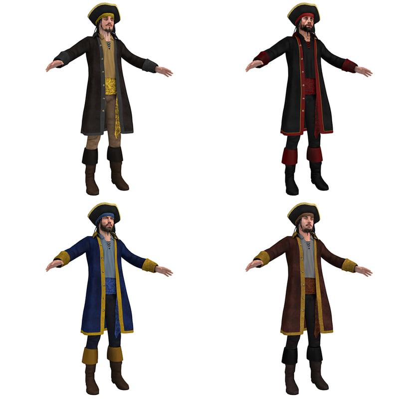 3d pack pirate hat