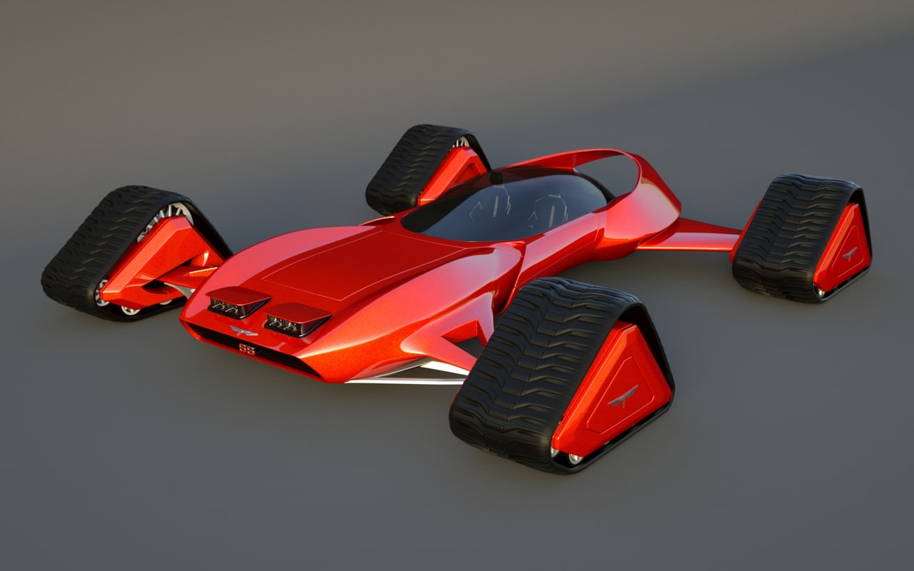 3d model trax designed tracks