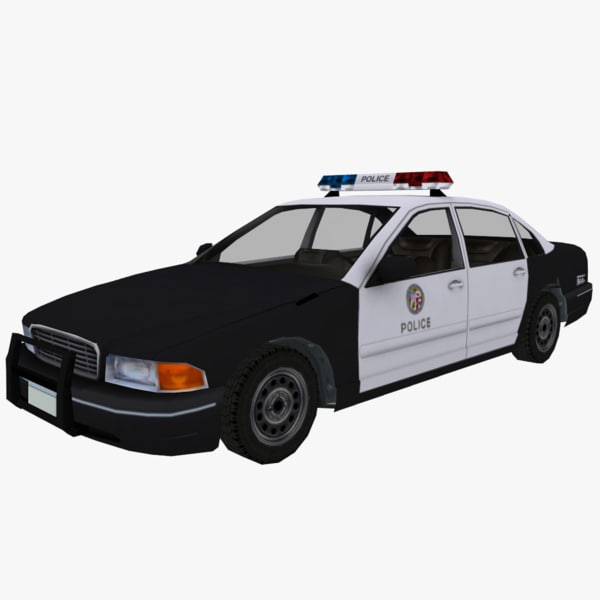 3ds max police car