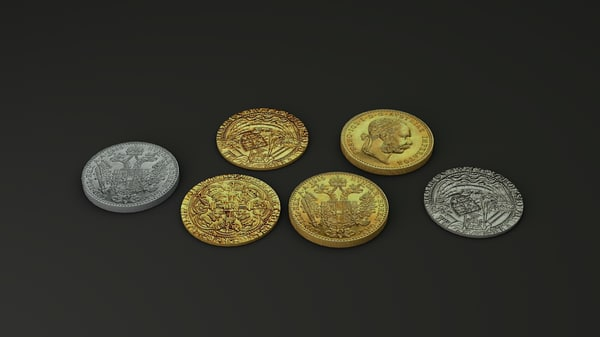 gold silver coins dxf