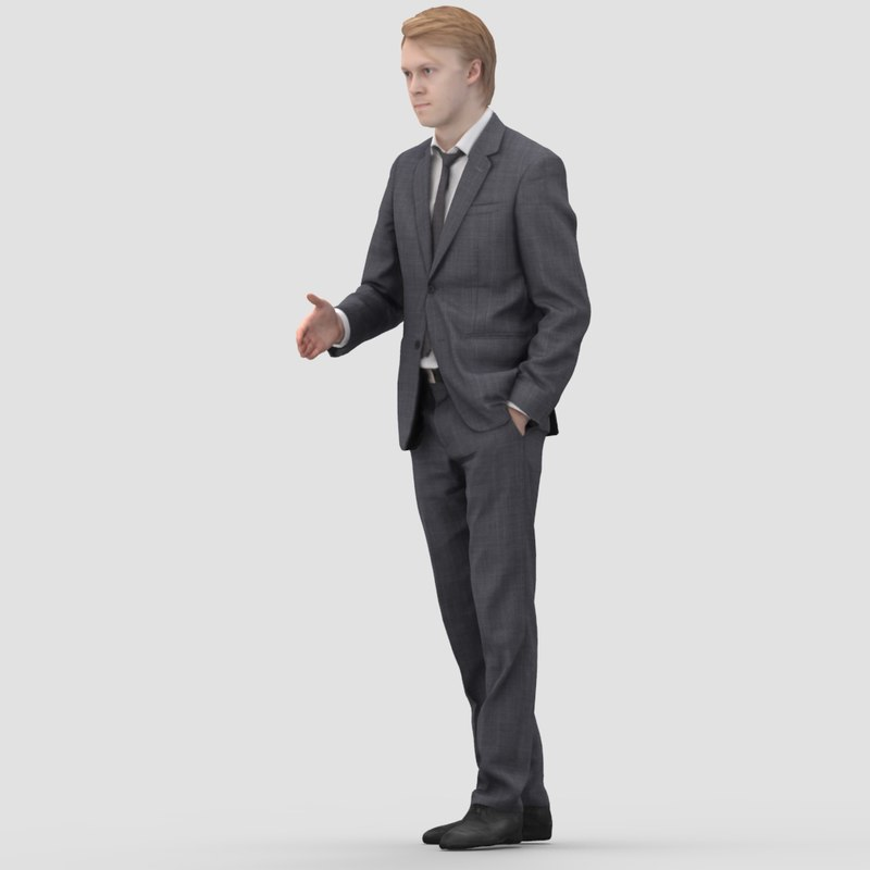 3d model realistic human