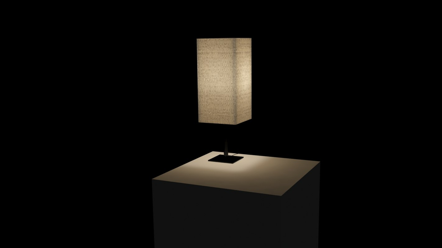 lamp translucent 3d model