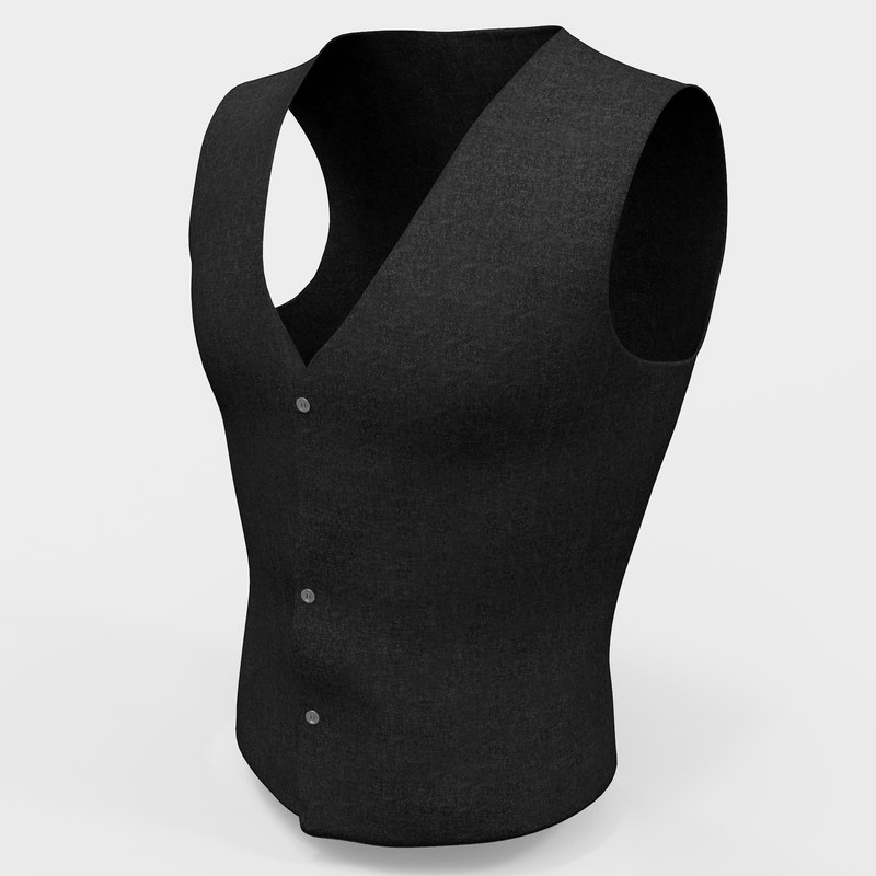 mens waistcoat modeled 3d model