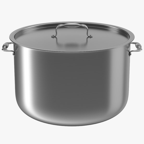 stainless pot modeled 3d c4d
