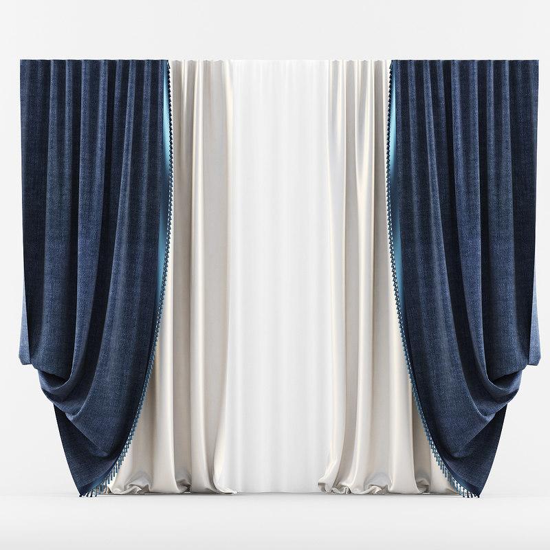 3d model curtain classic