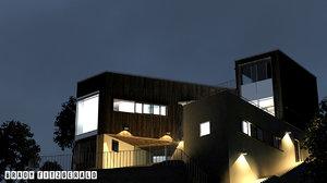 3ds max whale beach house