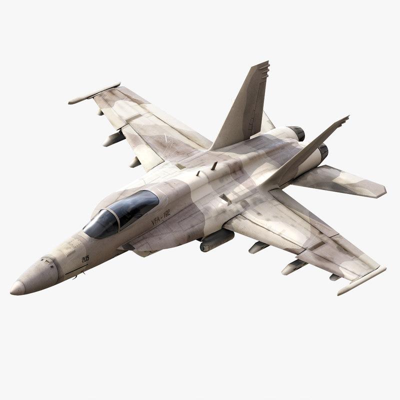 f a-18 super hornet 3d 3ds