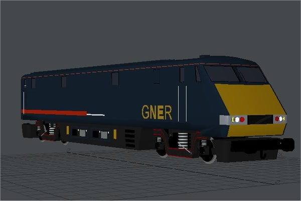 3d model of train loco class 91