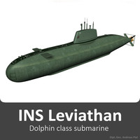 3d model of ins leviathan class submarine