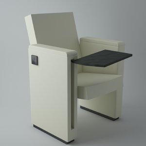 3d armchair flex table