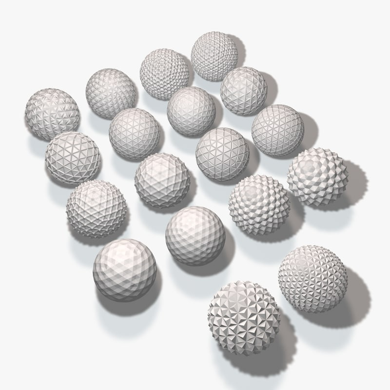 18 geometric spheres 3ds