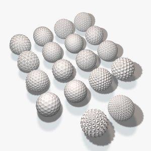 18 geometric spheres 3ds
