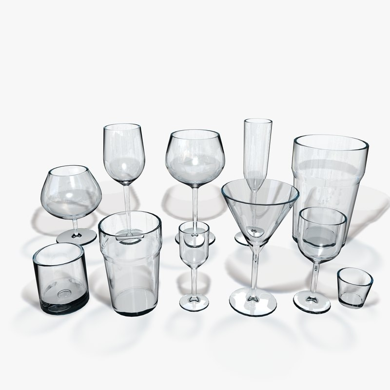 3ds max 11 different glasses