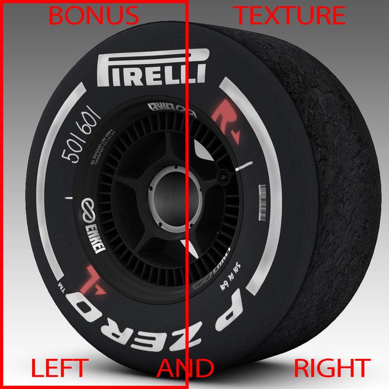 3d pirelli tyre enkei model