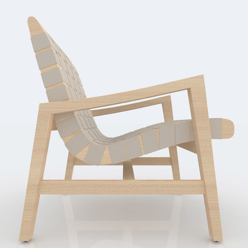 3d risom design chairs model