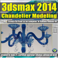 3ds max 2014 Chandelier Modeling vol. 48 CD front