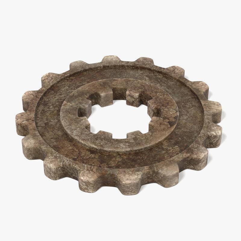 3d model of gear wheel
