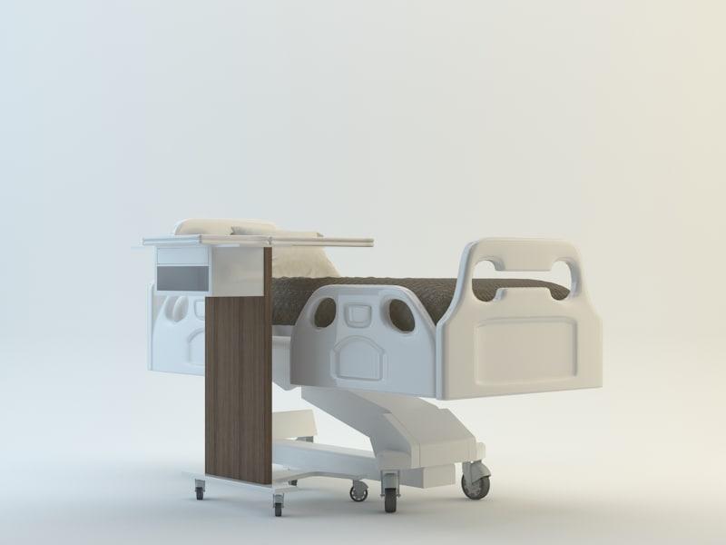 medical patient bed service 3d max