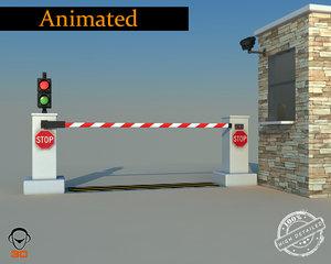 3d model road blocker