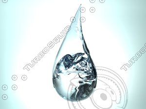water droplet obj