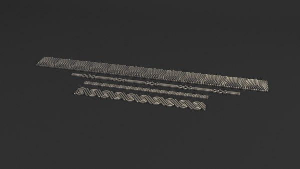 ornamental elements 3d 3ds