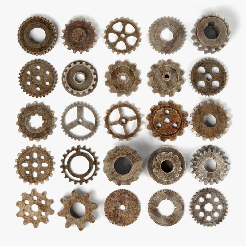 blend rusty gear wheels