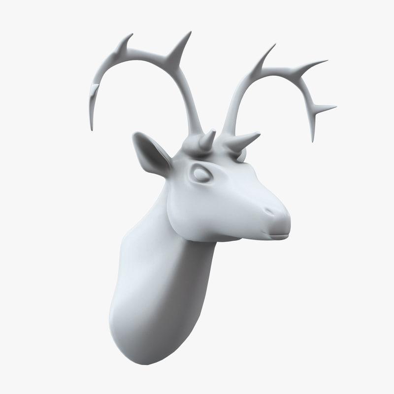3d model of deer head wall decor