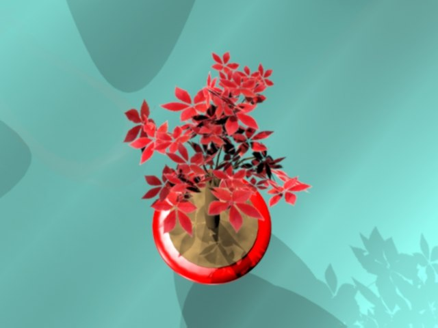3ds max red bonsai