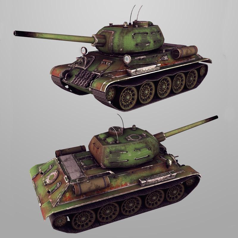 soviet tank t-34-85 max
