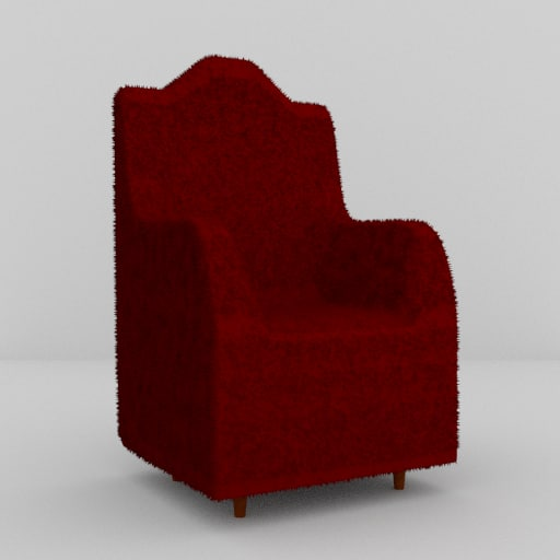 red armchair obj free