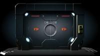 3d sci fi gate door model