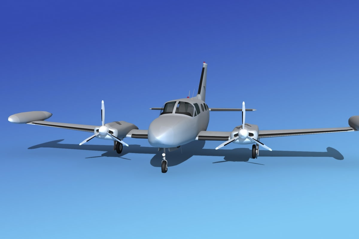 3d model scale cessna 421 golden eagle