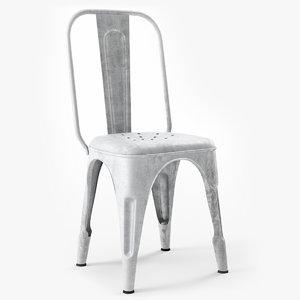 3d model chaise metal b r