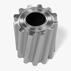 3d model gear wheel