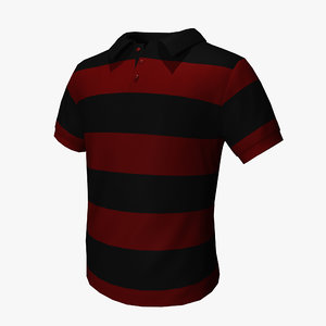 polo t-shirt 3d 3ds