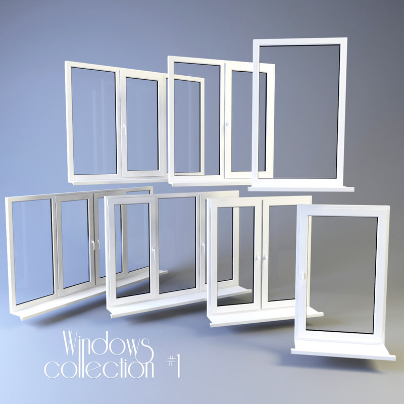 plastic windows 3d model