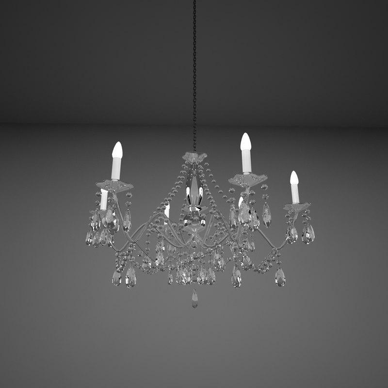 3d cristal chandelier model
